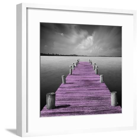 Tierra Desnuda - Pop Pink-Moises Levy-Framed Art Print