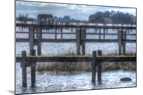 Blue Piers-Robert Goldwitz-Mounted Photographic Print