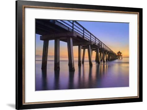 Naples Pier Panoramic III-Moises Levy-Framed Art Print