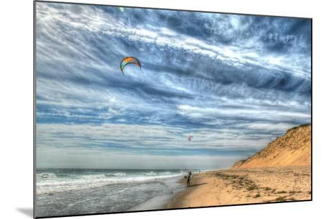 Cape Cod Kite Boarders-Robert Goldwitz-Mounted Photographic Print