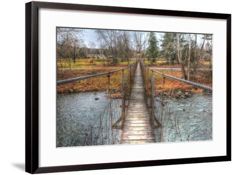Footbridge-Robert Goldwitz-Framed Art Print
