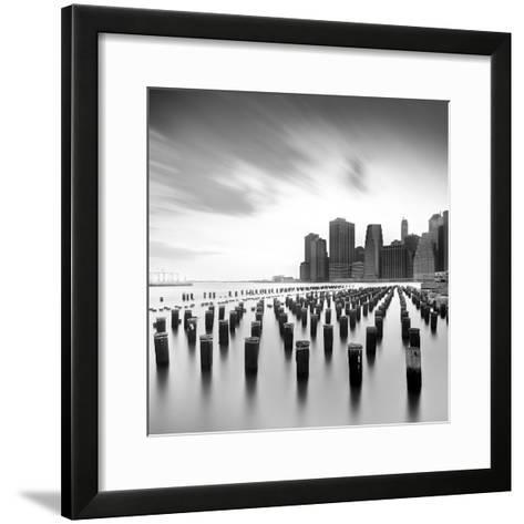 Mahattan Skyline 2-Moises Levy-Framed Art Print