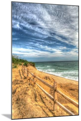 Truro Beach Fence Vertical-Robert Goldwitz-Mounted Photographic Print