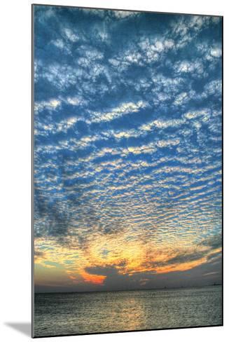 Key West Blue Sunset Vertical-Robert Goldwitz-Mounted Photographic Print