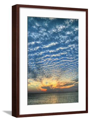 Key West Blue Sunset Vertical-Robert Goldwitz-Framed Art Print