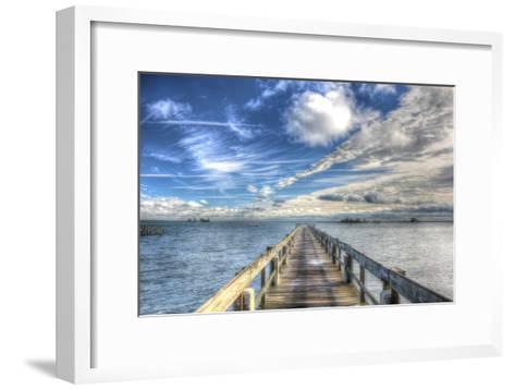 Long Pier Sebastian Florida-Robert Goldwitz-Framed Art Print