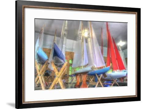 Model Sailboat Clubhouse-Robert Goldwitz-Framed Art Print