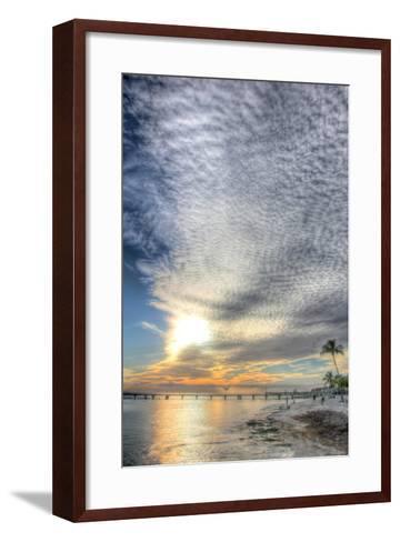 Key West Pier Sunset Vertical-Robert Goldwitz-Framed Art Print