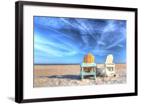 Two Chairs on the Beach-Robert Goldwitz-Framed Art Print