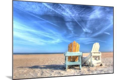 Two Chairs on the Beach-Robert Goldwitz-Mounted Photographic Print