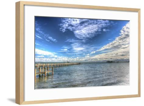 Water Sky One and Half Piers-Robert Goldwitz-Framed Art Print
