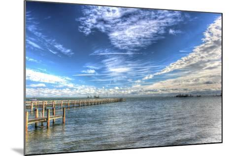 Water Sky One and Half Piers-Robert Goldwitz-Mounted Photographic Print