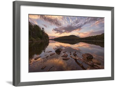 Kettle Pond Sunset-Michael Blanchette-Framed Art Print