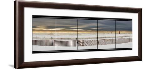 Grand Haven Lighthouse Panorama, Grand Haven, Michigan '14-Monte Nagler-Framed Art Print