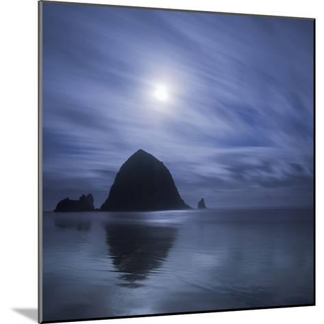 Moon over Canon Beach-Moises Levy-Mounted Photographic Print