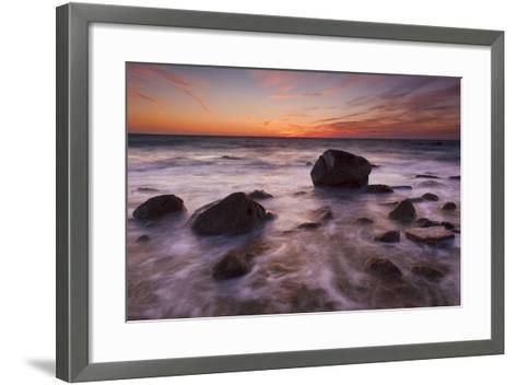 Rocks on Silky Water-Michael Blanchette-Framed Art Print