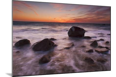 Rocks on Silky Water-Michael Blanchette-Mounted Photographic Print