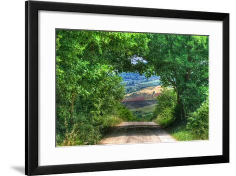 Tuscan Tree Tunnel-Robert Goldwitz-Framed Art Print