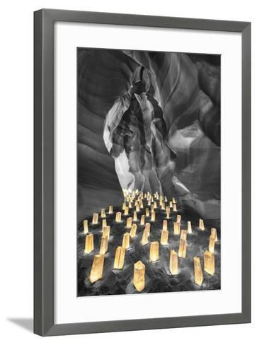 Candle Canyon BW - Pop-Moises Levy-Framed Art Print