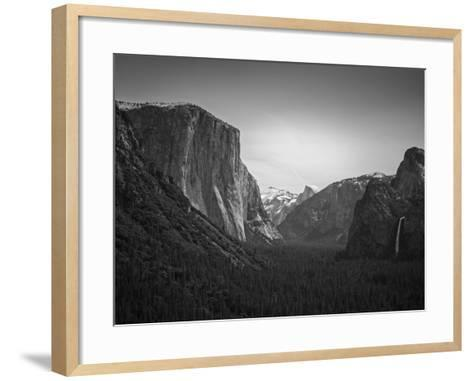 Tunnel View BW 2-Moises Levy-Framed Art Print