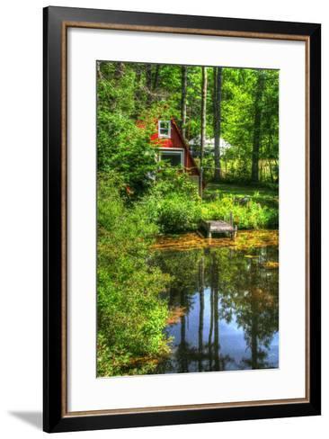 Pond Vertical with a Frame-Robert Goldwitz-Framed Art Print