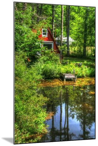 Pond Vertical with a Frame-Robert Goldwitz-Mounted Photographic Print