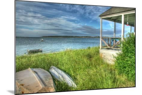 CC Porch and Boats-Robert Goldwitz-Mounted Photographic Print