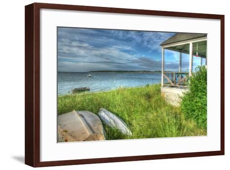 CC Porch and Boats-Robert Goldwitz-Framed Art Print