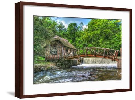 Mill House and Stream-Robert Goldwitz-Framed Art Print