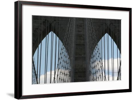 Brooklyn Bridge Cables-Robert Goldwitz-Framed Art Print