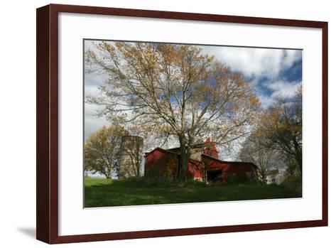 Early Spring Tree Barn-Robert Goldwitz-Framed Art Print