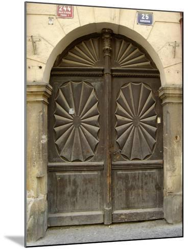 Prague Door VI-Jim Christensen-Mounted Photographic Print
