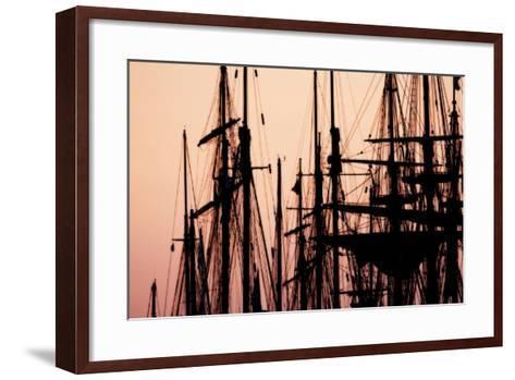 Tall Ships at Sunset 2-Alan Hausenflock-Framed Art Print