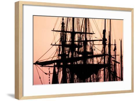 Tall Ships at Sunset 1-Alan Hausenflock-Framed Art Print