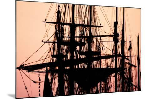 Tall Ships at Sunset 1-Alan Hausenflock-Mounted Photographic Print
