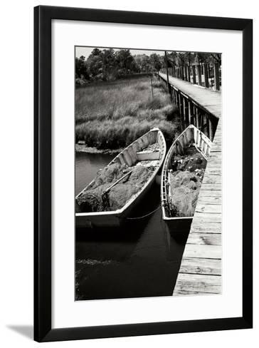 Nets and Boats 1-Alan Hausenflock-Framed Art Print