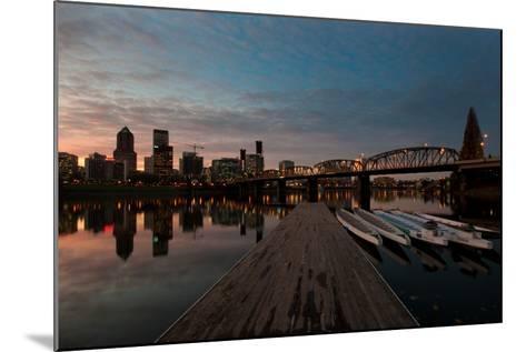 Portland Waterfront II-Erin Berzel-Mounted Photographic Print