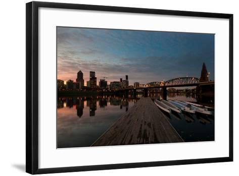 Portland Waterfront II-Erin Berzel-Framed Art Print