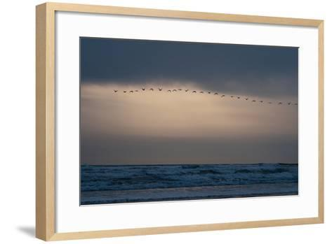Oregon Coast Sunset 2-Erin Berzel-Framed Art Print