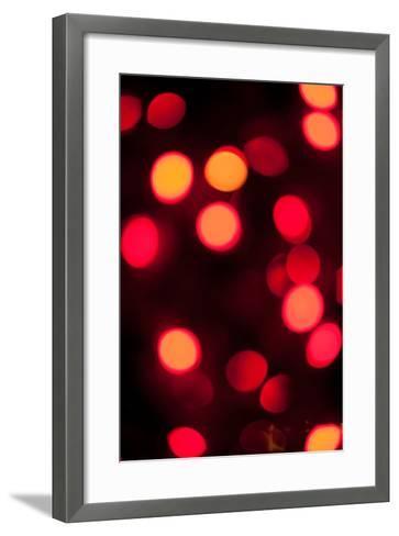 Red Bokeh-Erin Berzel-Framed Art Print