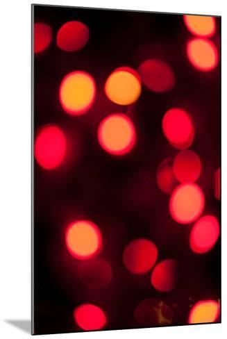 Red Bokeh-Erin Berzel-Mounted Photographic Print