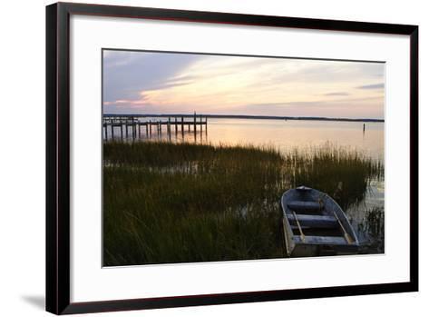 Sunset over the Channel 4-Alan Hausenflock-Framed Art Print