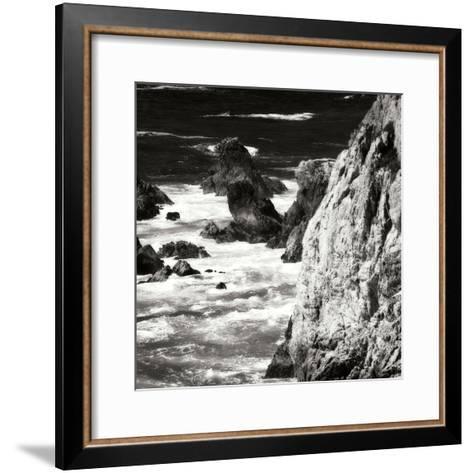 Garrapata 7 BW Square-Alan Hausenflock-Framed Art Print