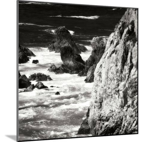Garrapata 7 BW Square-Alan Hausenflock-Mounted Photographic Print