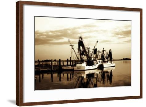 Beaufort Shrimpers-Alan Hausenflock-Framed Art Print