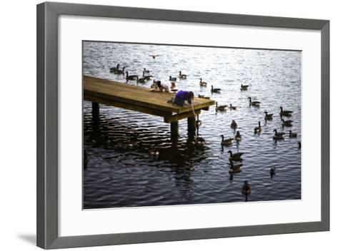 Feeding the Geese IV-Alan Hausenflock-Framed Art Print