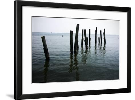 Pilings II-Alan Hausenflock-Framed Art Print