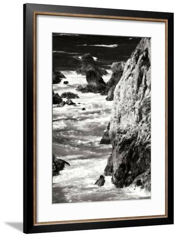 Garrapata Highlands 7 BW-Alan Hausenflock-Framed Art Print