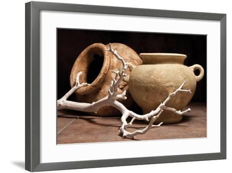 Pottery with Branch II-C^ McNemar-Framed Art Print