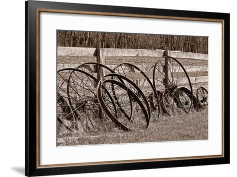 Antique Wagon Wheels I-C^ McNemar-Framed Art Print